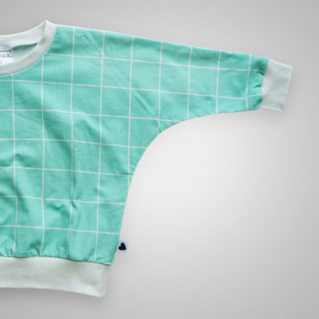 Pullover - Grid mint